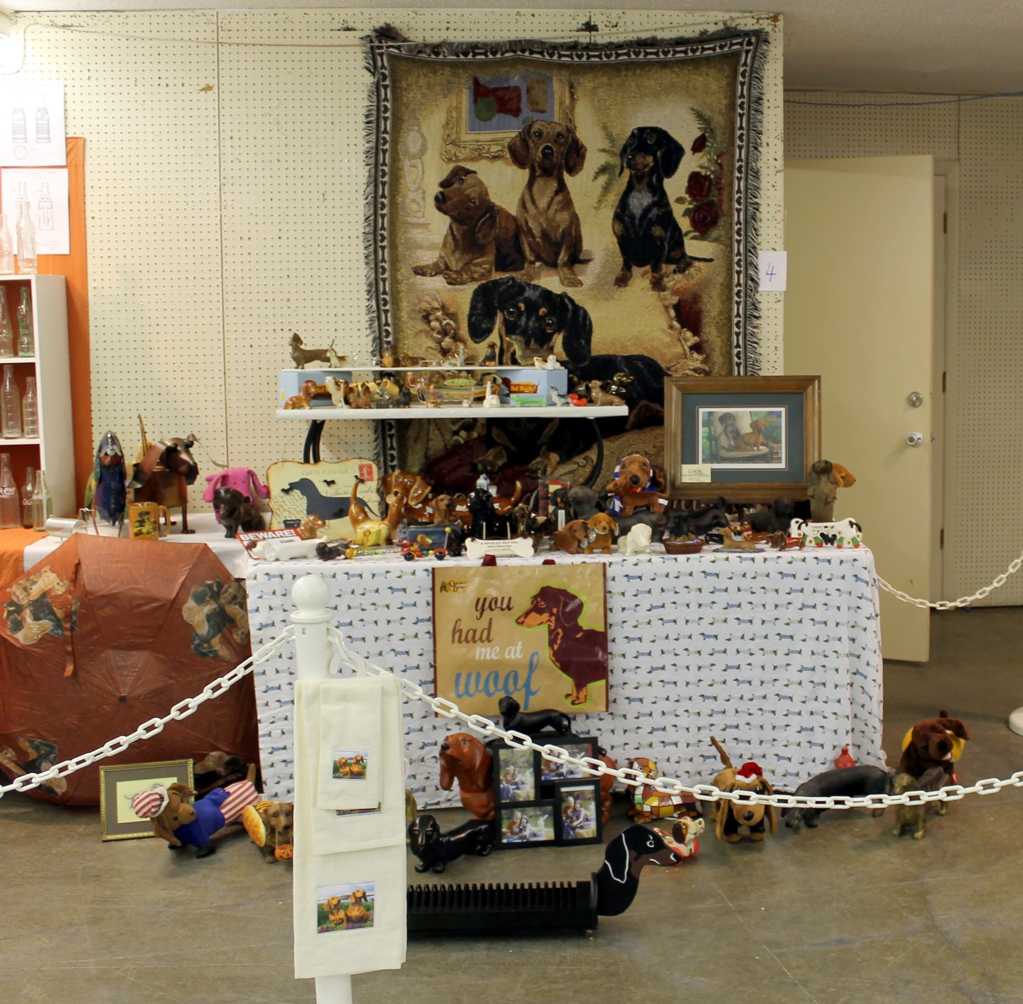 Sheryl Begley's wonderful dog display!