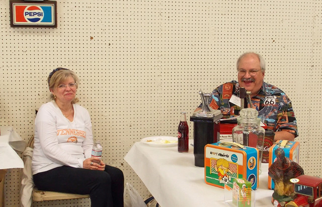 Carl Bailey and his wife are laughing at the goober with the camera