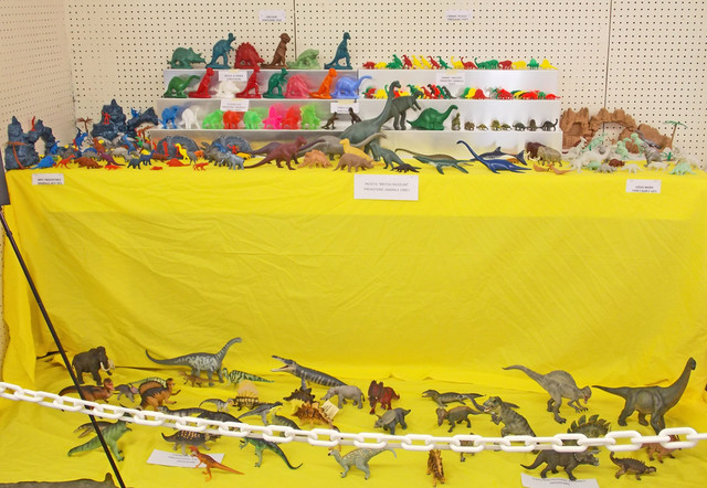 Gray 2015 Display #1 vintage and modern dinosaur toys by Joseph Lee III