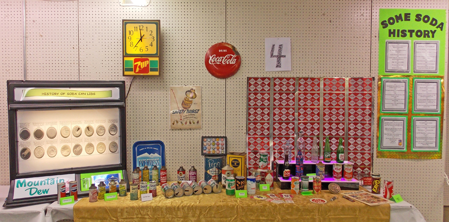 Gray 2015 Display #4 soda history display by Bill Miller