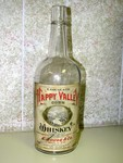 Nice paper-label Happy Valley Corn Whiskey