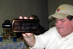Jerry Brown with an uncommon amber St. Andrews Wine of Life Root bottle!