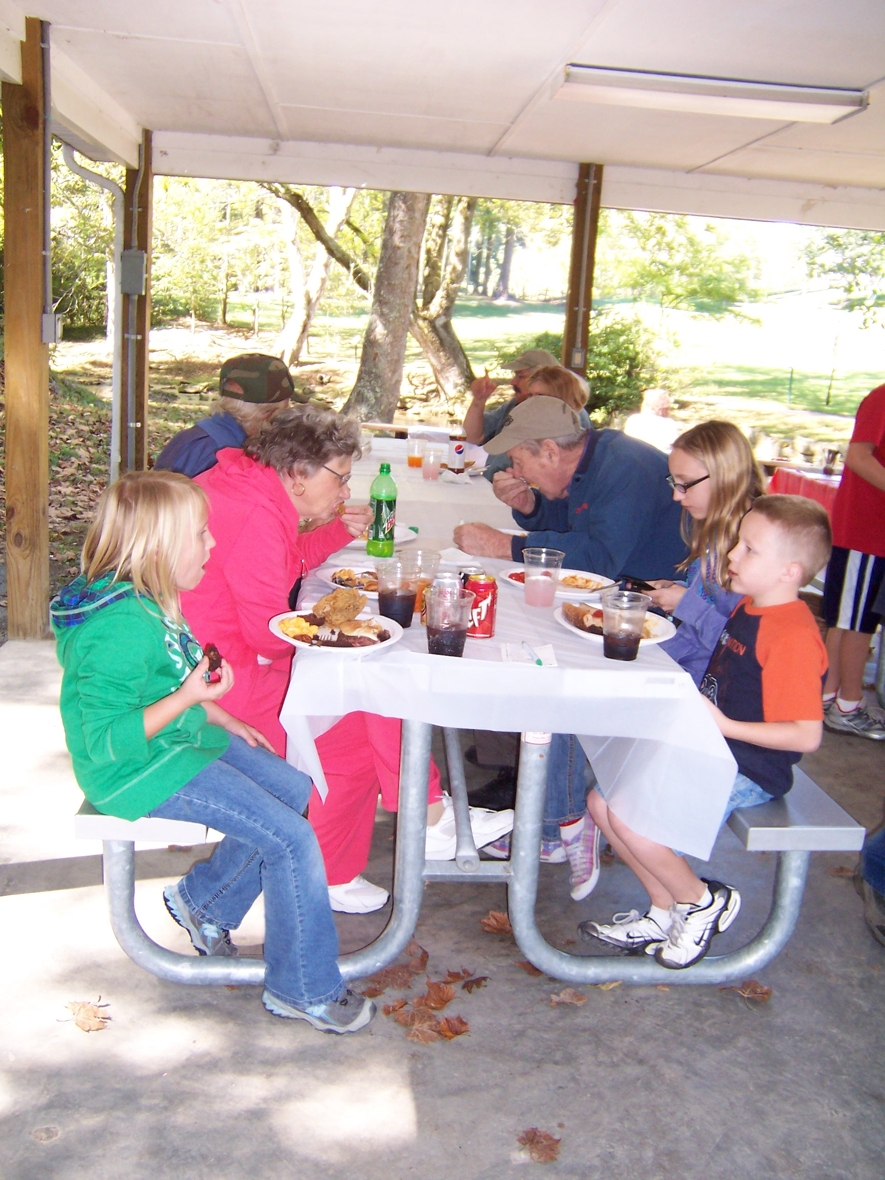 There is always delicious food and great fellowship at the annual picnic-2010.