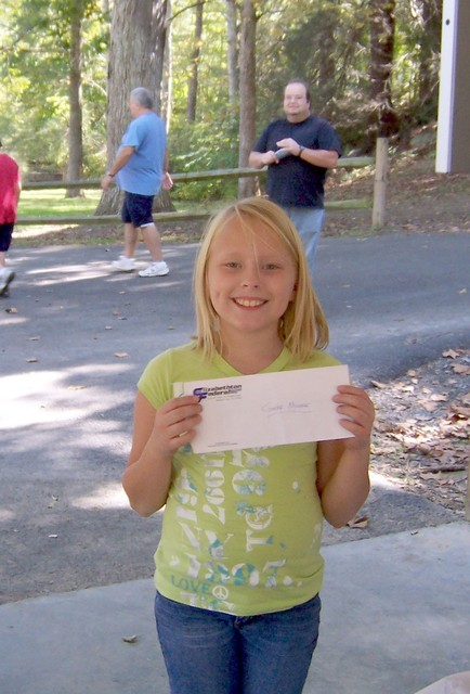 Brandon Horne's daughter, Breanna, won the $25.00 door prize at the 2010 picnic.